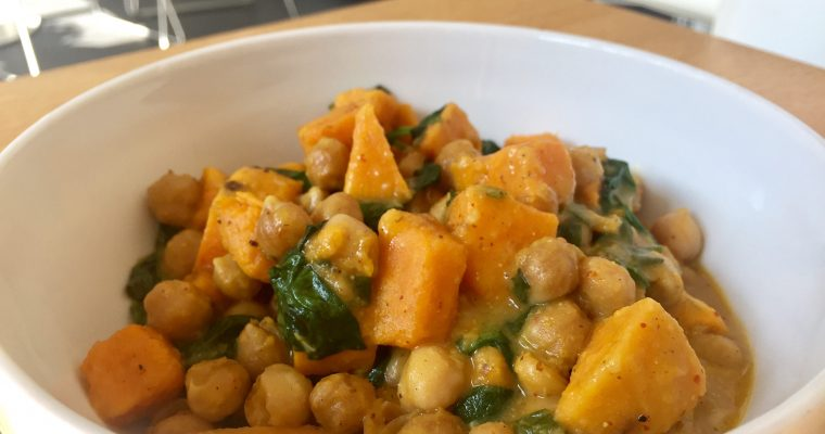 [Vegan] Süßkartoffel-Kichererbsen-Curry